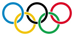 Olympic rings with transparent rims