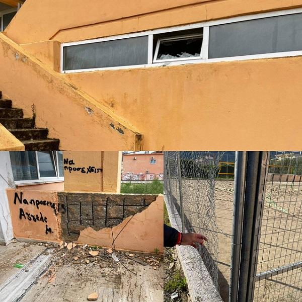 vandalismoi igoumenitsa